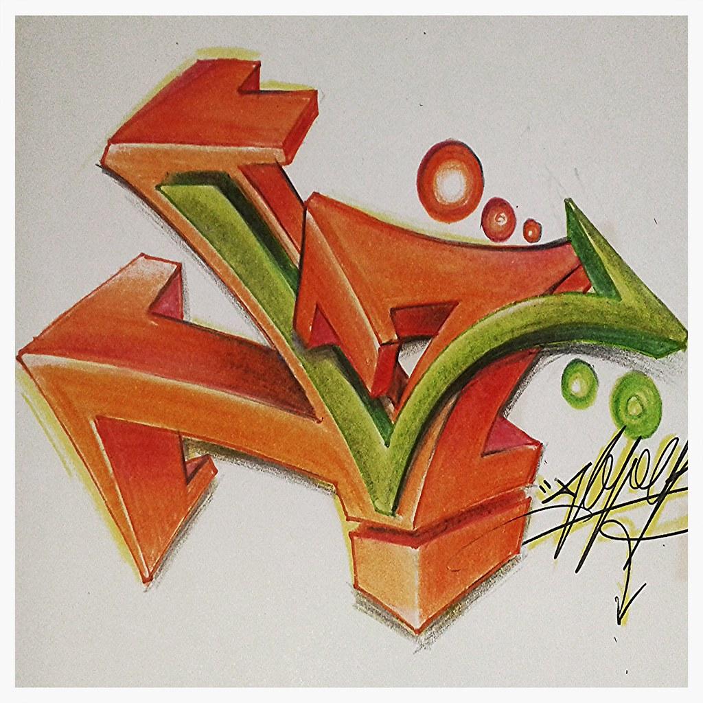 Letra L Graffiti Hoper St Flickr
