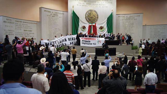 Clausurando Congreso de Veracruz