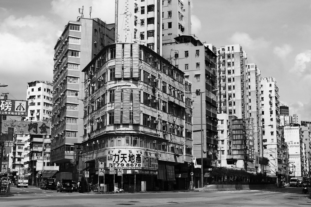 rounded corner building the old hong kong this is the his flickr
