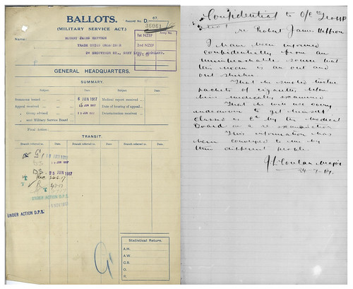 "Robert ""Bob"" James Heffron New Zealand Defence Force file extract 