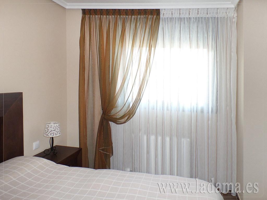 cortina para dormitorio con doble cortina fotograf a de