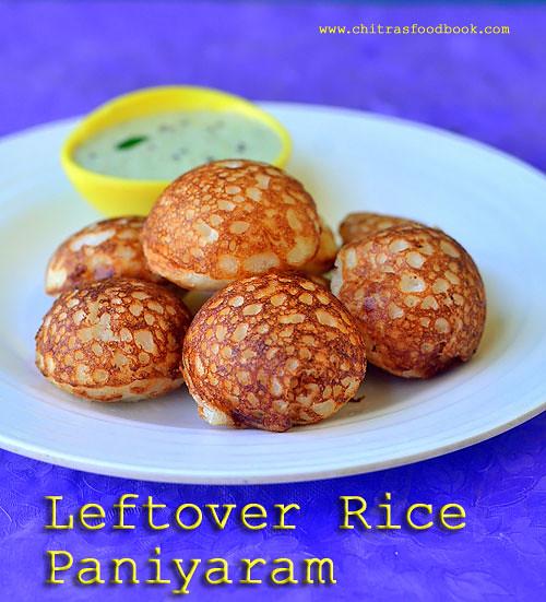 Leftover rice kuzhi paniyaram