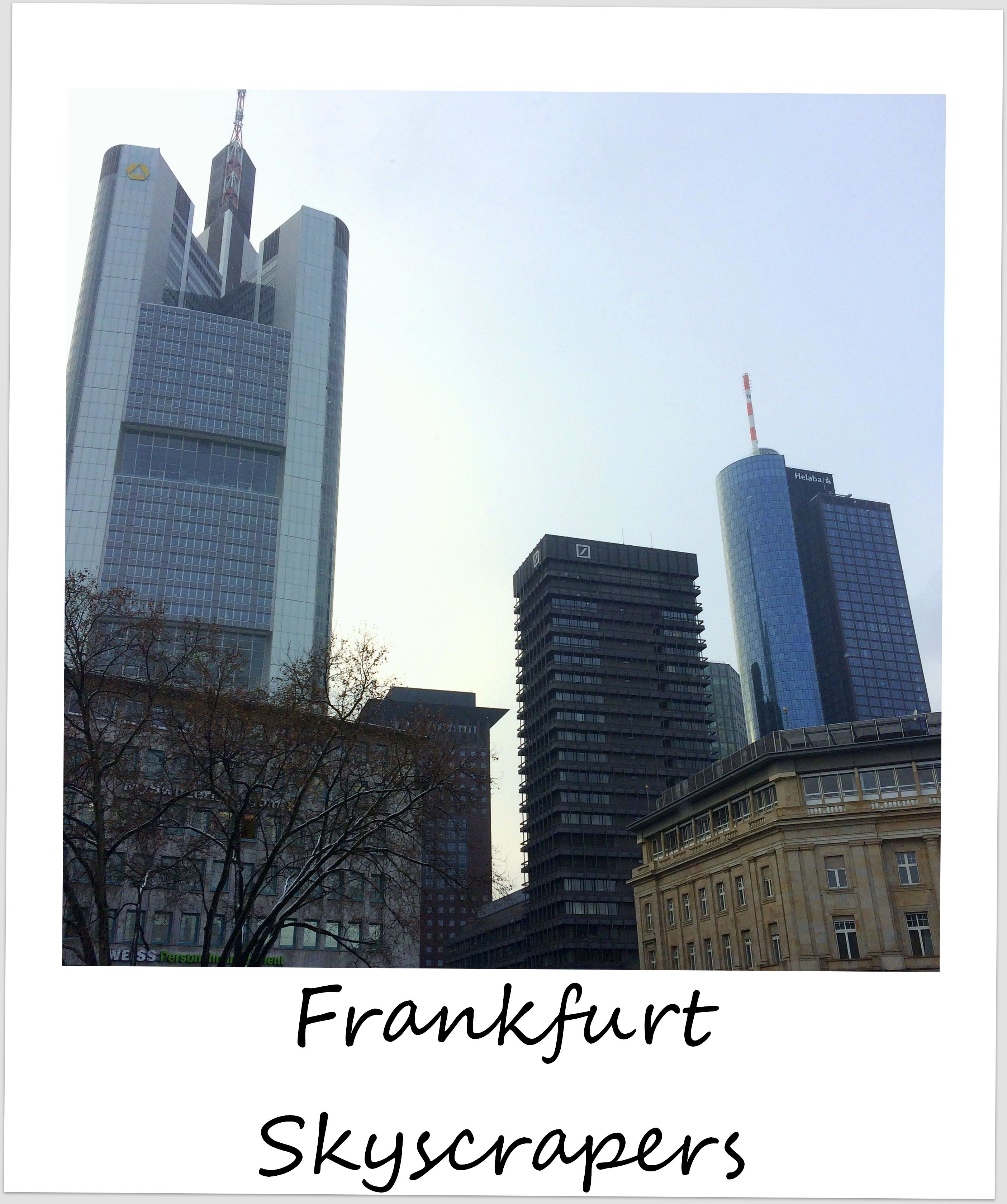 polaroid of the week germany frankfurt skyscrapers