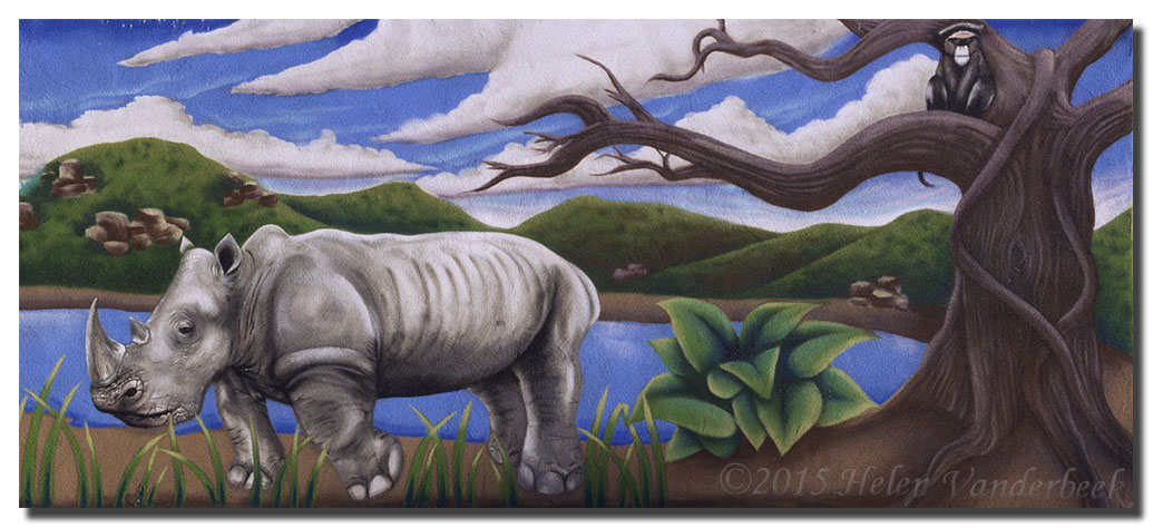 Mural at Rio Grande Zoo