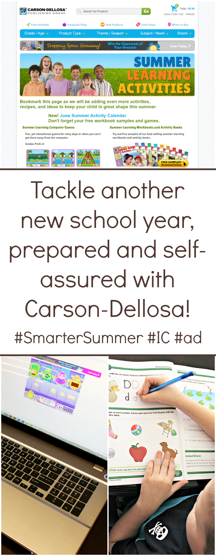 Despite the importance of summer adventure, we don't want everything the kids learned during the school year to fall to the wayside. We want to make sure our children return to tackle another new school year, prepared and self-assured. #SmarterSummer #IC