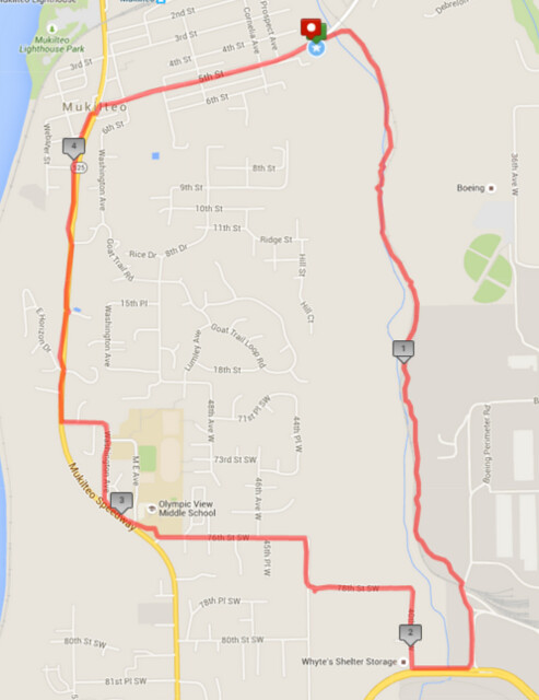 Today's awesome walk, 4.74 miles in 1:39, 10,203 steps, 490ft gain
