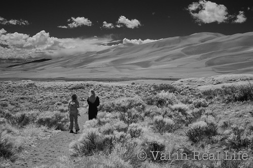 val in real life - great sand dunes infrared