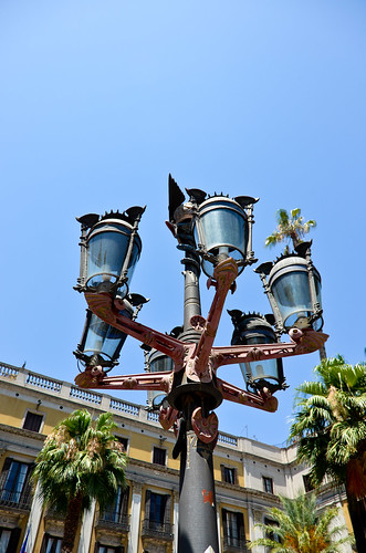 Gaudi's Lamppost at Placa Reial