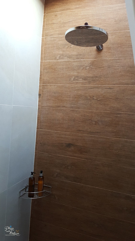 glamping shower area
