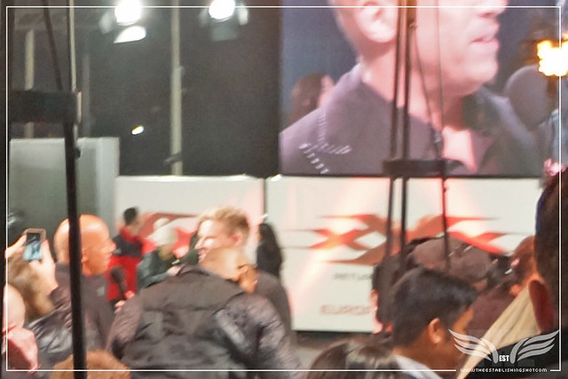 The Establishing Shot xXx RETURN OF XANDER CAGE EUROPEAN PREMIERE - STAR VIN DIESEL BEING INTERVIEWED - O2 ARENA, LONDON