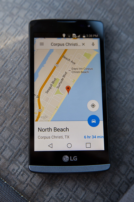 Google Maps on LG Leon