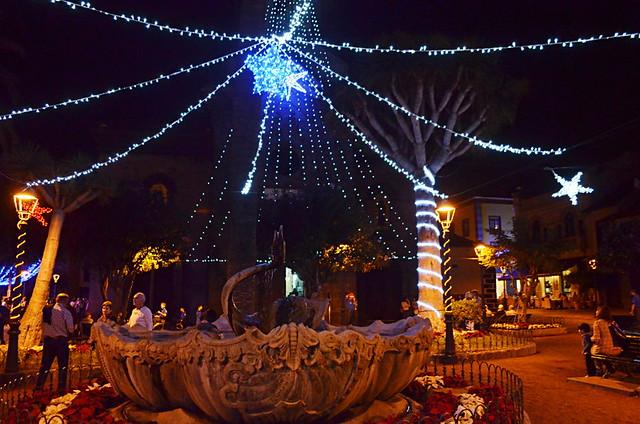 Christmas decorations, Puerto de la Cruz, Tenerife