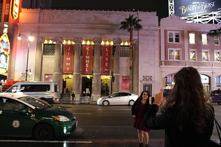 In front of Jimmy Kimmel Live, post-show