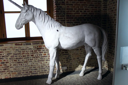Statue of white Unicorn