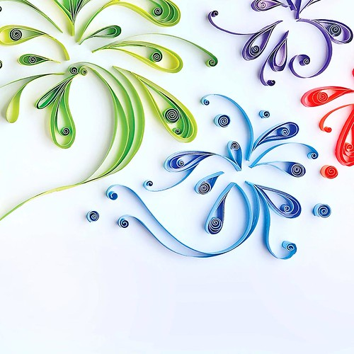 Quilled Fireworks by Mary Imbong