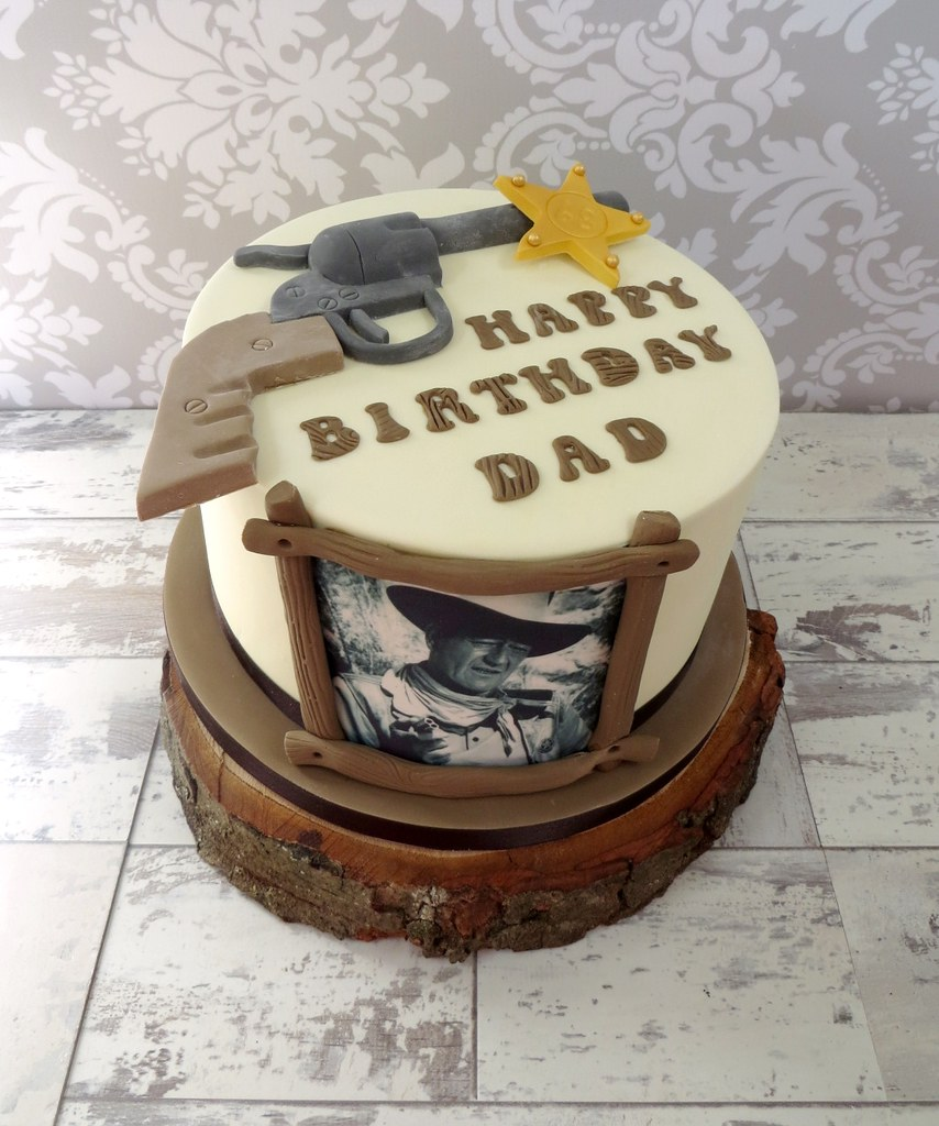 John Wayne Birthday Cake A Cherry On Top Scotland Flickr