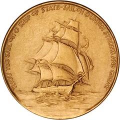 1945 Roosevelt Inaugural Medal reverse