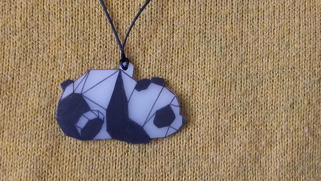 oso panda origami plástico mágico