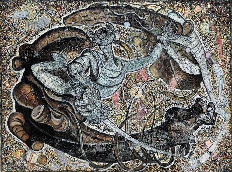 Oeuvre d'Alex Rodin, un artiste biélorusse du Tacheles entre William Blake et Salvador Dali.