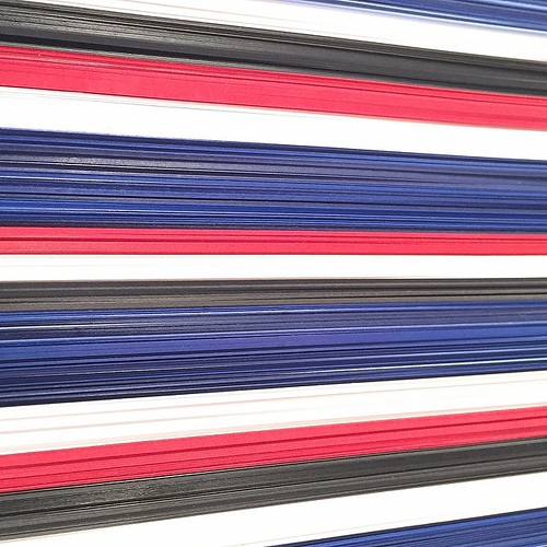 Paper Art - American Campaign Ribbon by David Dunleavy