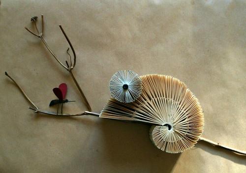 Chameleon Folded Book Sculpture by Clara Maffei
