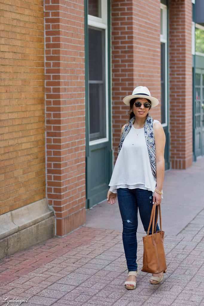 white tank, distressed denim, panama hat, leather tote.jpg