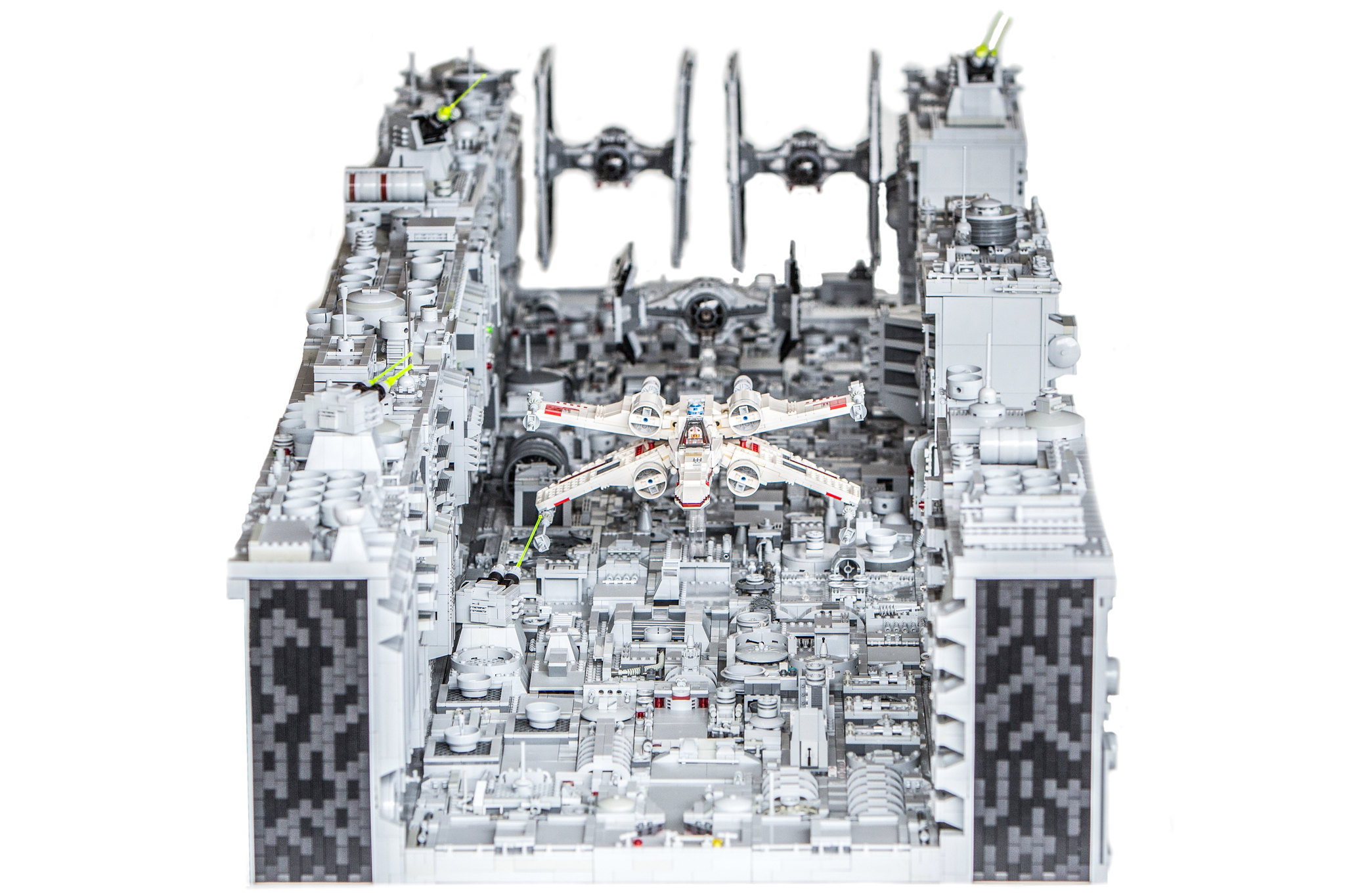 8ft long death star trench run lego star wars. Black Bedroom Furniture Sets. Home Design Ideas