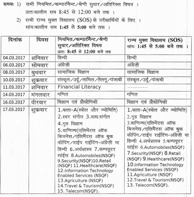 Hp board date sheet 2017 for class 8 10 12 aglasem for 8th board time table