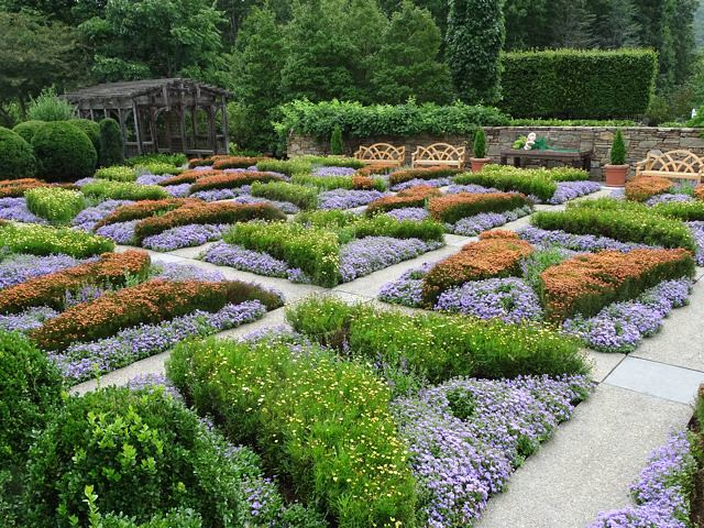 Quilt Garden at NC Arboretum ~ From My Carolina Home