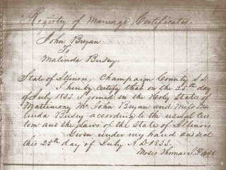 Bryan-Busey Marriage Registry, 1833 | by The Urbana Free Library Digital Collections