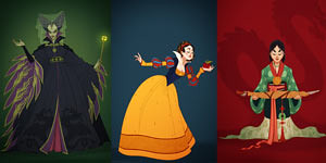 Illustrator Redesigns Disney Costumes