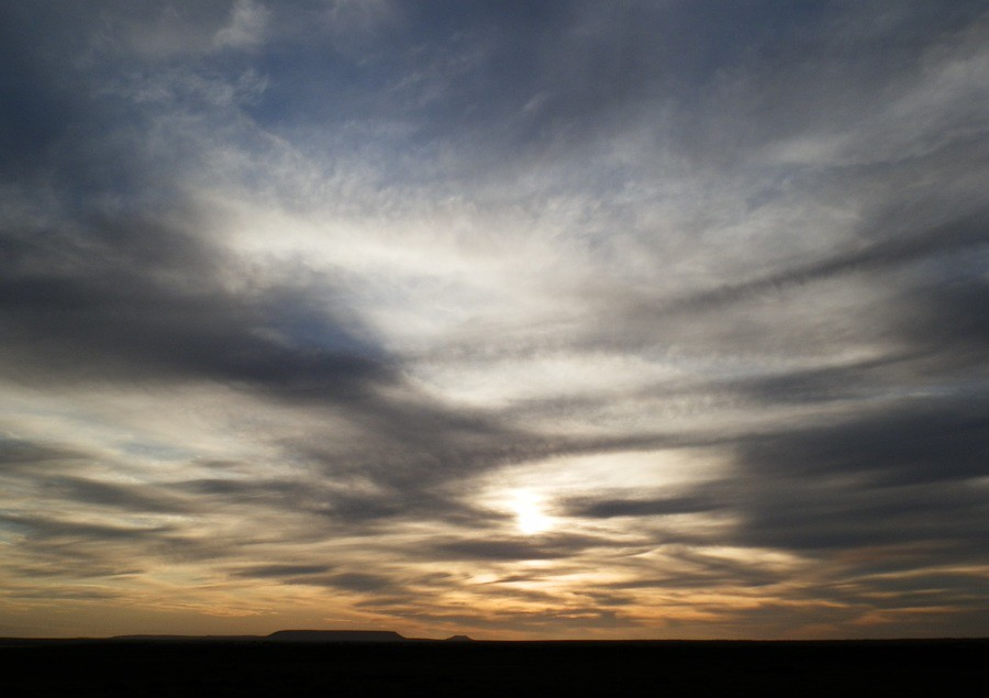 Sunset over the Tent Hills, Port Augusta