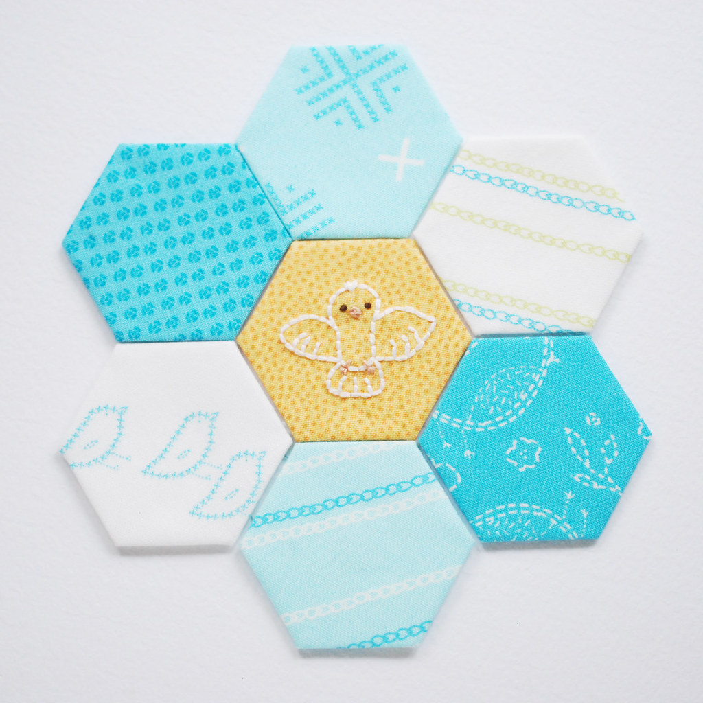 Hexagon Tinies // Dove