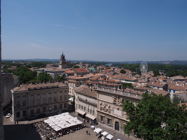 view of Avignon from Palais-des-Papes