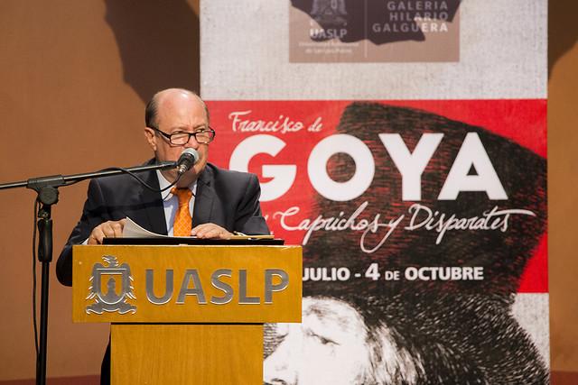 Grabados de Francisco Goya se exhiben en el Centro Universitario Caja Real