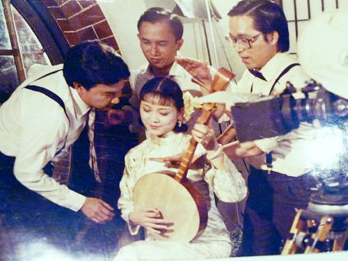 1985年新藝城出資、林清介導演《孤戀花》拍攝工作照
