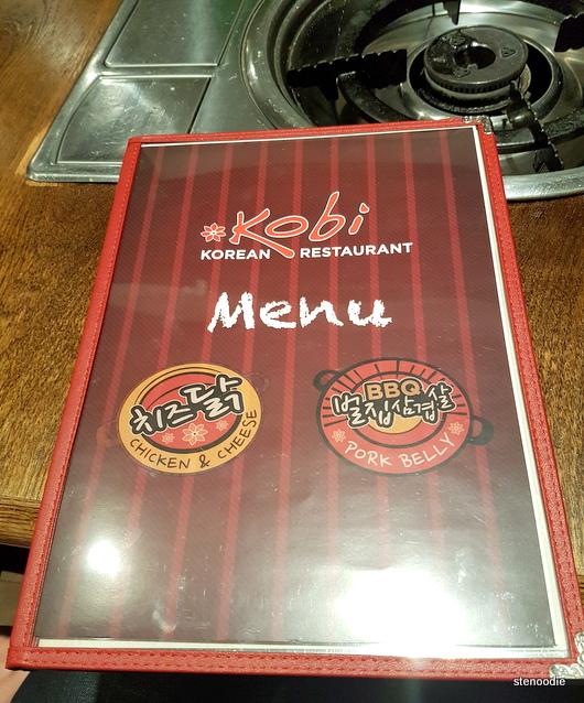 Kobi Korean BBQ Restaurant menu cover