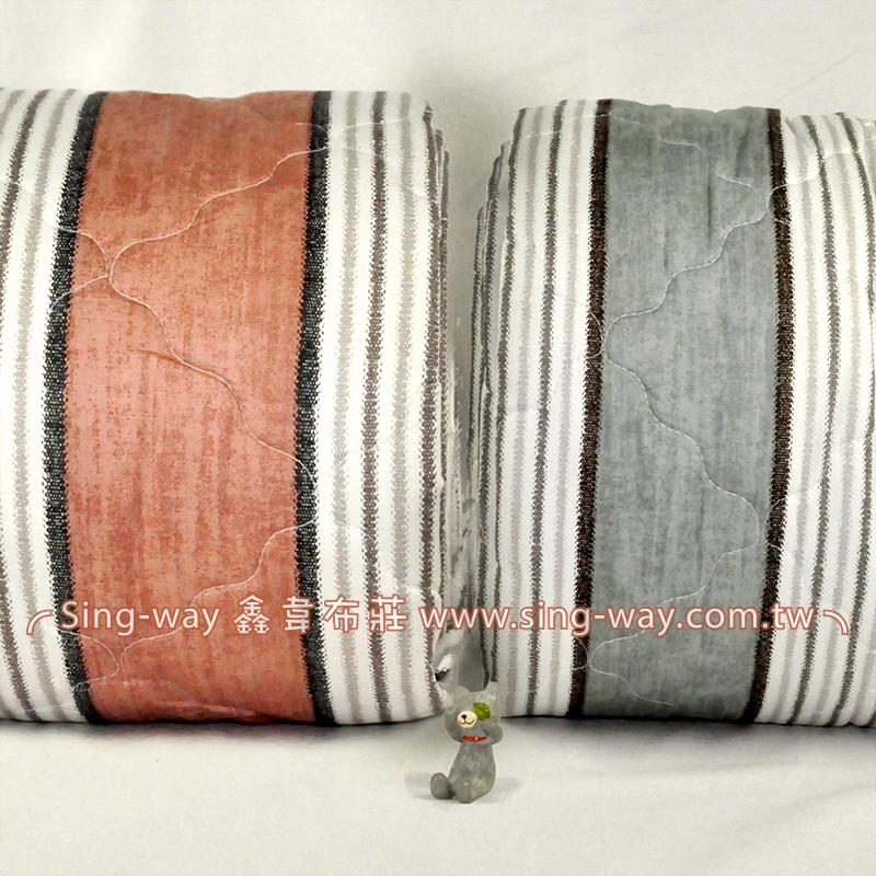 【限宅配】 直條經典風華 變化條紋 精梳棉鋪棉床品床單布料 B990085