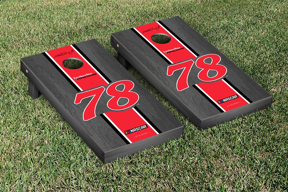 MARTIN TRUEX #78 CORNHOLE GAME SET ONYX STAINED STRIPE VERSION (1)