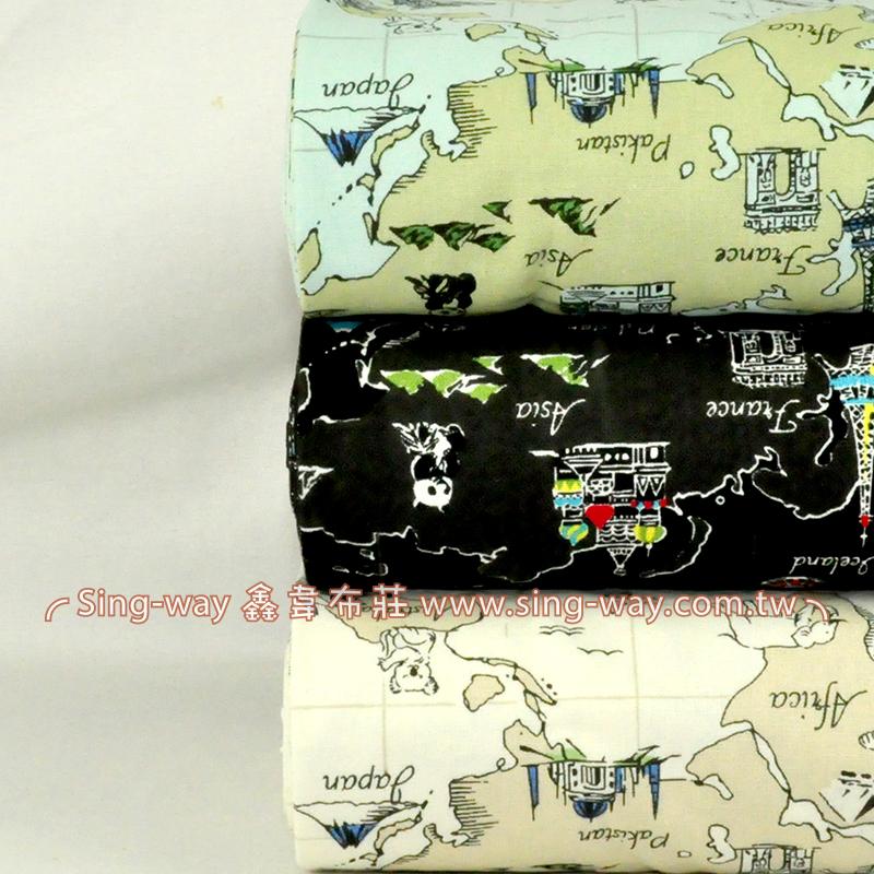 航海地圖 (大特價) 手工藝DIy拼布布料 CF550544