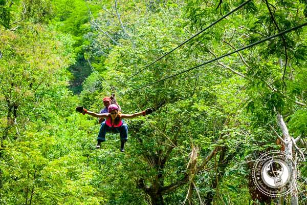 Ziplining outside Granada Nicaragua