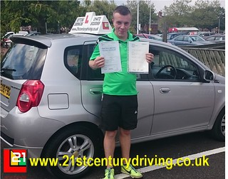 Jack Nicol passes his driving test and his BTEC in Grimsby with 21st Century Driving