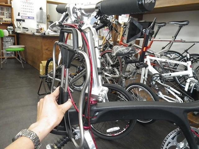 Sac avant de marque Brompton sur un autre vélo pliabe (Dahon, Birdy,...) 19101957176_b54afd6b2e_z