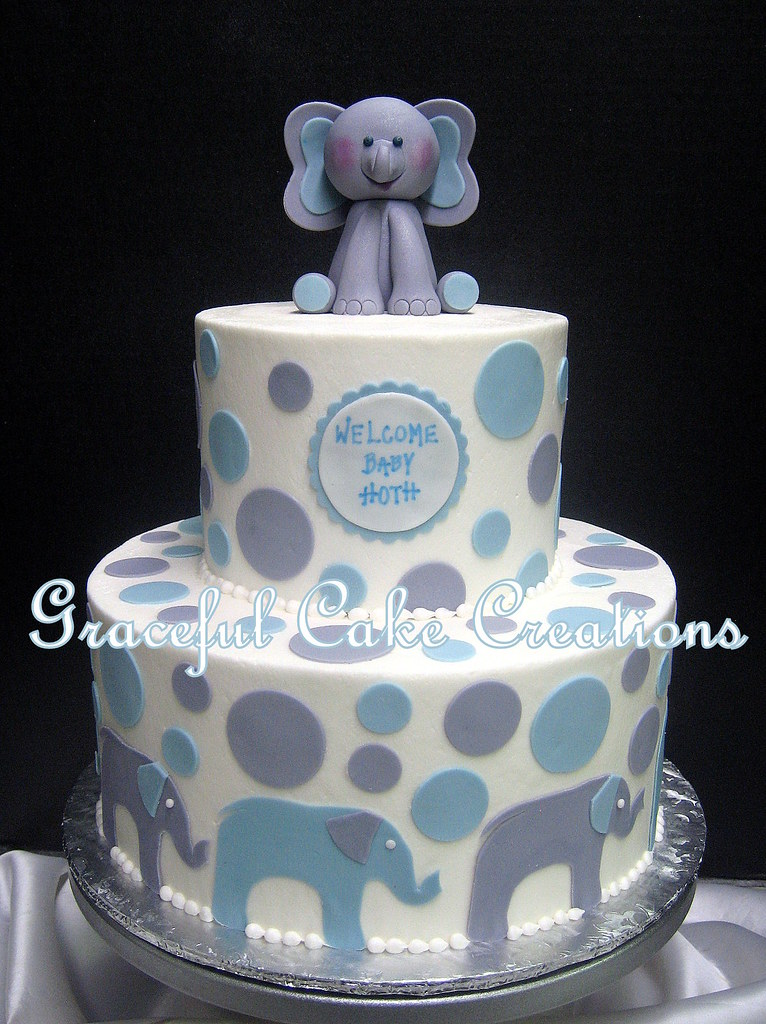 Elephant Baby Shower Cake Boy