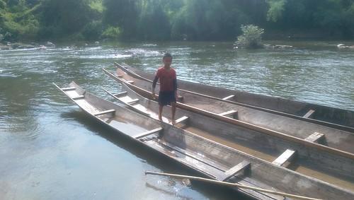 Boat boy Laos