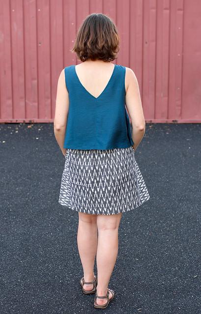 Papercut Sway Dress (as top) & Liesl & Co Everyday Skirt