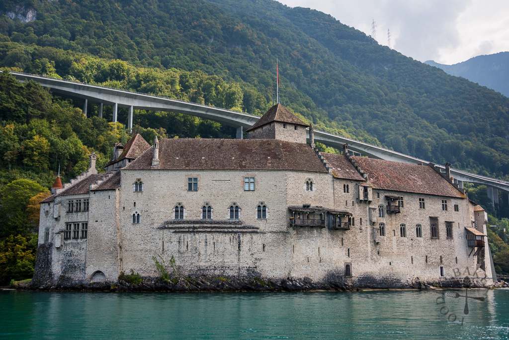 Chillon Castle from Lake Geneva