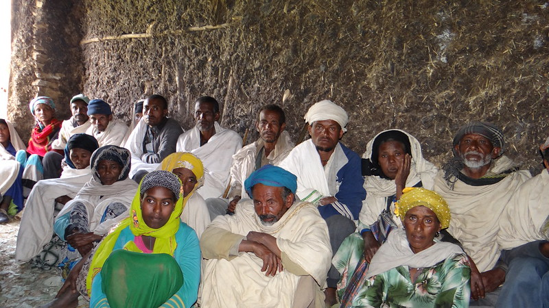 Participants at a training in small ruminant smart marketing in Menz, Ethiopia (photo credit: ICARDA/Girma Kassie).