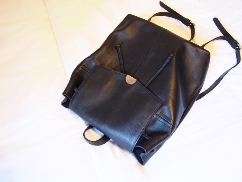 Black Kiomi leather backpack