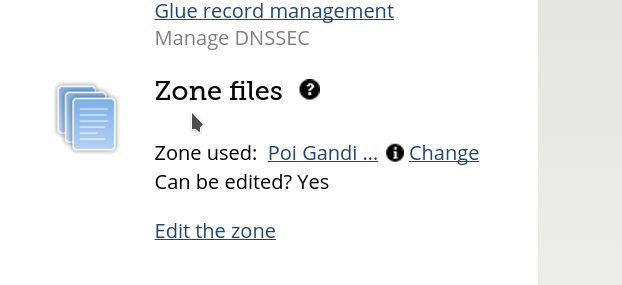 Change Zone File